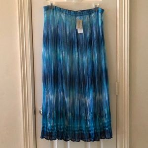 Chico's Blue Pattern Maxi Skirt- Size 2 NWT